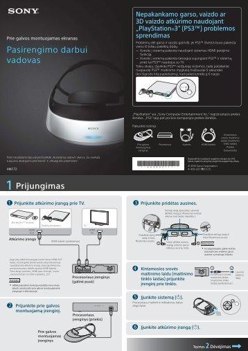 Sony HMZ-T2 - HMZ-T2 Guida di configurazione rapid Lituano