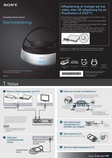 Sony HMZ-T2 - HMZ-T2 Guida di configurazione rapid Danese