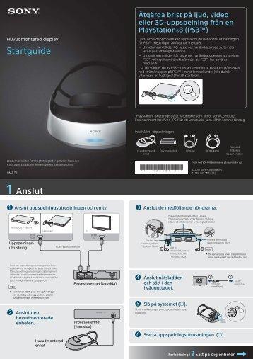 Sony HMZ-T2 - HMZ-T2 Guida di configurazione rapid Svedese