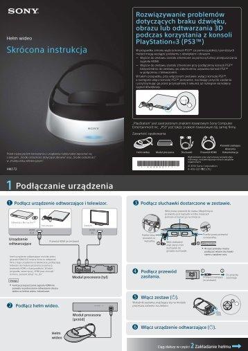 Sony HMZ-T2 - HMZ-T2 Guida di configurazione rapid Polacco