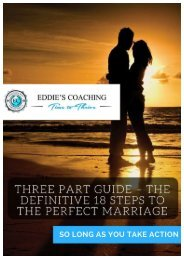 THREE PART – 18 STEPS TO THE PERFECT MARRIAGE