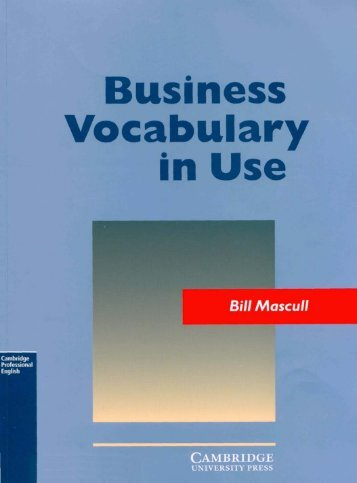 (2) Business Vocabulary in Use