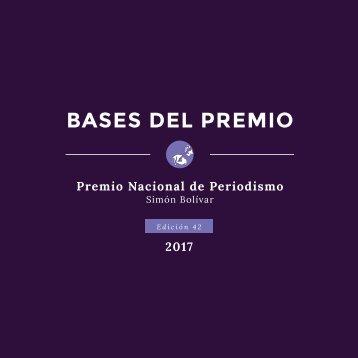 BASES DEL PREMIO