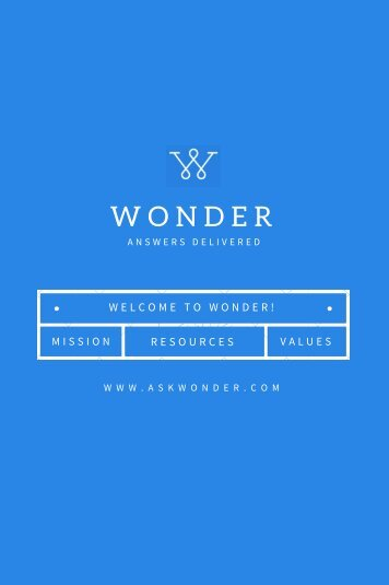 Wonder Welcome Packet