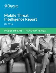 Mobile Threat Intelligence Report