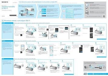 Sony SRS-X99 - SRS-X99 Guide de connexion Wi-Fi Slovénien