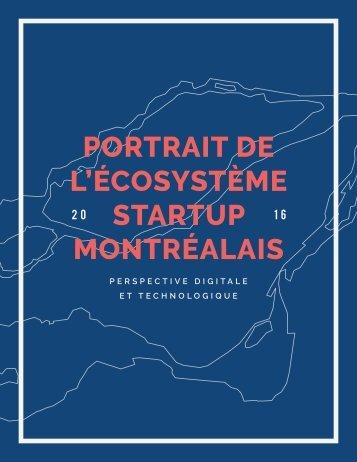 l'écosystème startuP montréalais