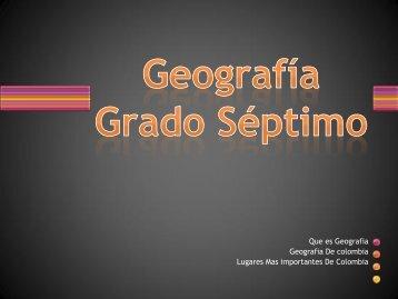 Geografía Grado Séptimo