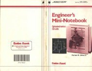 Engineer's Mini-Notebook - Optoeletronics Circuits [Archer - Forrest M. Mims III - Radio Shack]