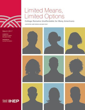 Limited Means Limited Options