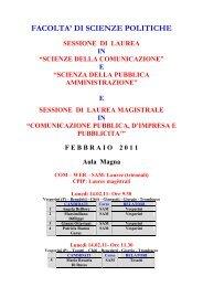 Calendario Discussione Tesi Unito.Calendario Lauree Sessione Straordinaria Triennale In