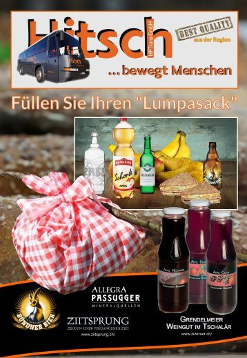 Reisen mit dem Lumpasack Brötli, Essen, Lebensmittel Bestellformular