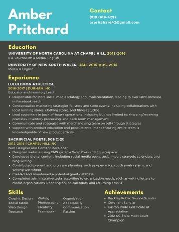 Amber Pritchard Resume