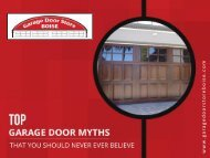 Garage Doors in Boise - Top Myths Busted