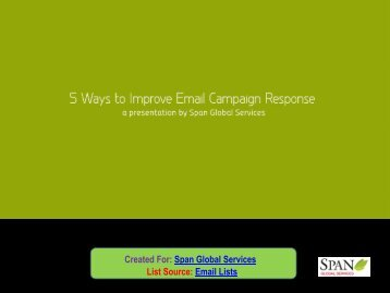 5 Ways to Improve Email Campaign Response