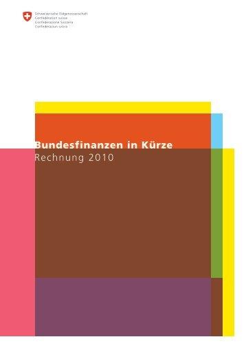 Bundesfinanzen in Kürze - Eidg. Finanzverwaltung - admin.ch