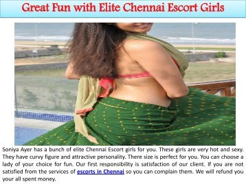 Great Fun with Elite Chennai Escort Girls