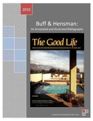 Buff & Hensman: An Annotated & Illustrated Bibliography - so-cal-arch