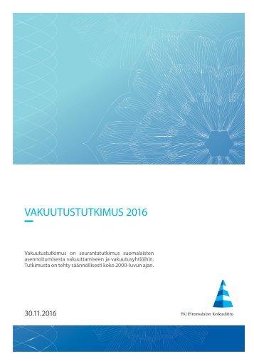 VAKUUTUSTUTKIMUS 2016