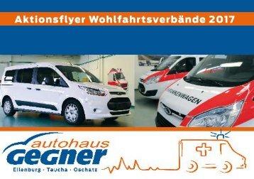 Autohaus Gegner - Aktionsflyer Wohlfahrtsverbände - Eilenburg, Oschatz, Leipzig