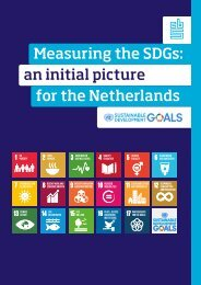 Measuring the SDGs an initial picture for the Netherlands