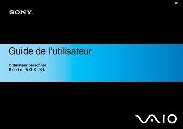 Sony VGX-XL302 - VGX-XL302 Mode d'emploi