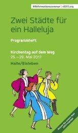 Programmheft zum Kirchentag auf dem Weg 2017 in Halle/Eisleben