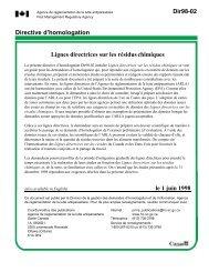 Lignes directrices sur les résidus chimiques - Publications du ...