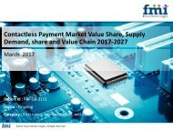 Contactless Payment Market Dynamics, Segments and Supply Demand 2017-2027