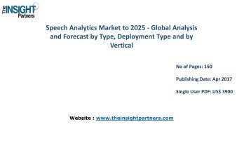 Speech Analytics Market Analysis & Trends - Forecast to 2025 |The Insight Partners