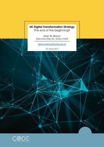 UK Digital Transformation Strategy The end of the beginning?