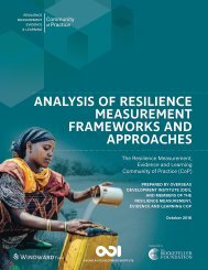 ANALYSIS OF RESILIENCE MEASUREMENT FRAMEWORKS AND APPROACHES
