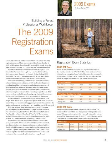 The 2009 Registration Exams - Association of BC Forest Professionals