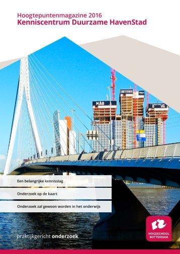 Hoogtepuntenmagazine Kenniscentrum Duurzame HavenStad