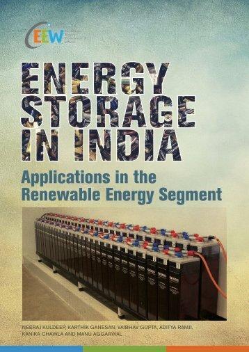Applications in the Renewable Energy Segment
