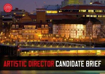 Artistic director candidate brief