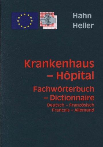 Krankenhaus - Hôpital - Fachwörterbuch - Dictionnaire