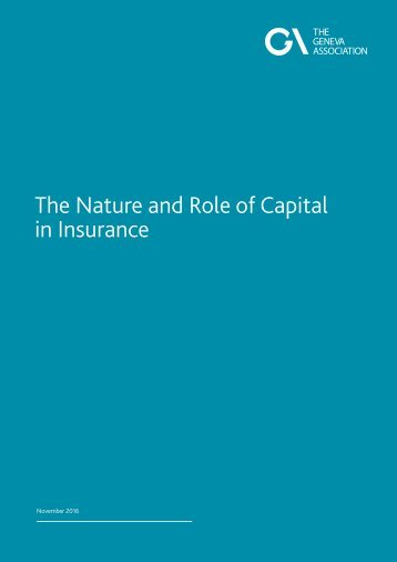 The Nature and Role of Capital in Insurance