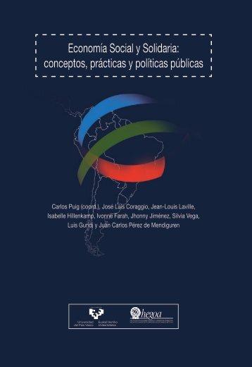 Economía Social y Solidaria conceptos prácticas y políticas públicas