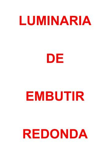 LUMINARIA REDONDA