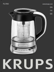 Krups FL700 ELECTRONIC TEA MAKER (661.83 KB) (Language: EN) -