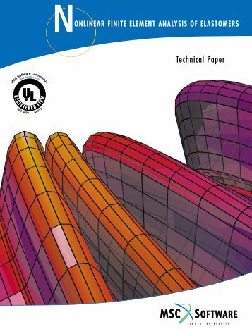 nonlinear finite element analysis of elastomers - MSC Software