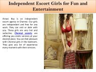 Independent Escort Girls for Fun and Entertainment