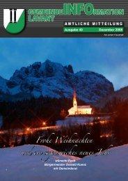 Gemeindezeitung Lavant 2008