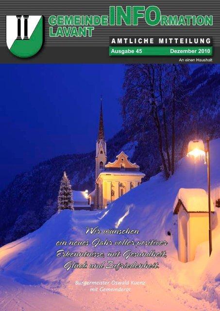 Gemeindezeitung Lavant 2010