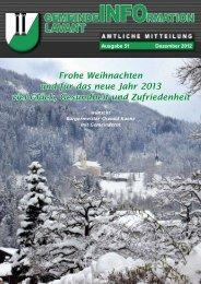 Gemeindezeitung Lavant 2012