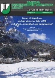 Gemeindezeitung Lavant 2013