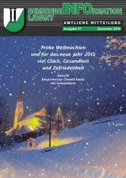 Gemeindezeitung Lavant 2014