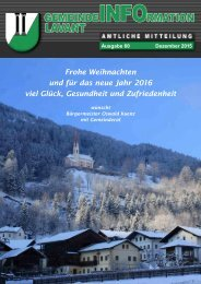 Gemeindezeitung Lavant 2015