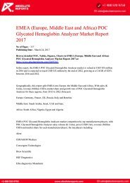 EMEA-Europe-Middle-East-and-Africa-POC-Glycated-Hemoglobin-Analyzer-Market-Report-2017